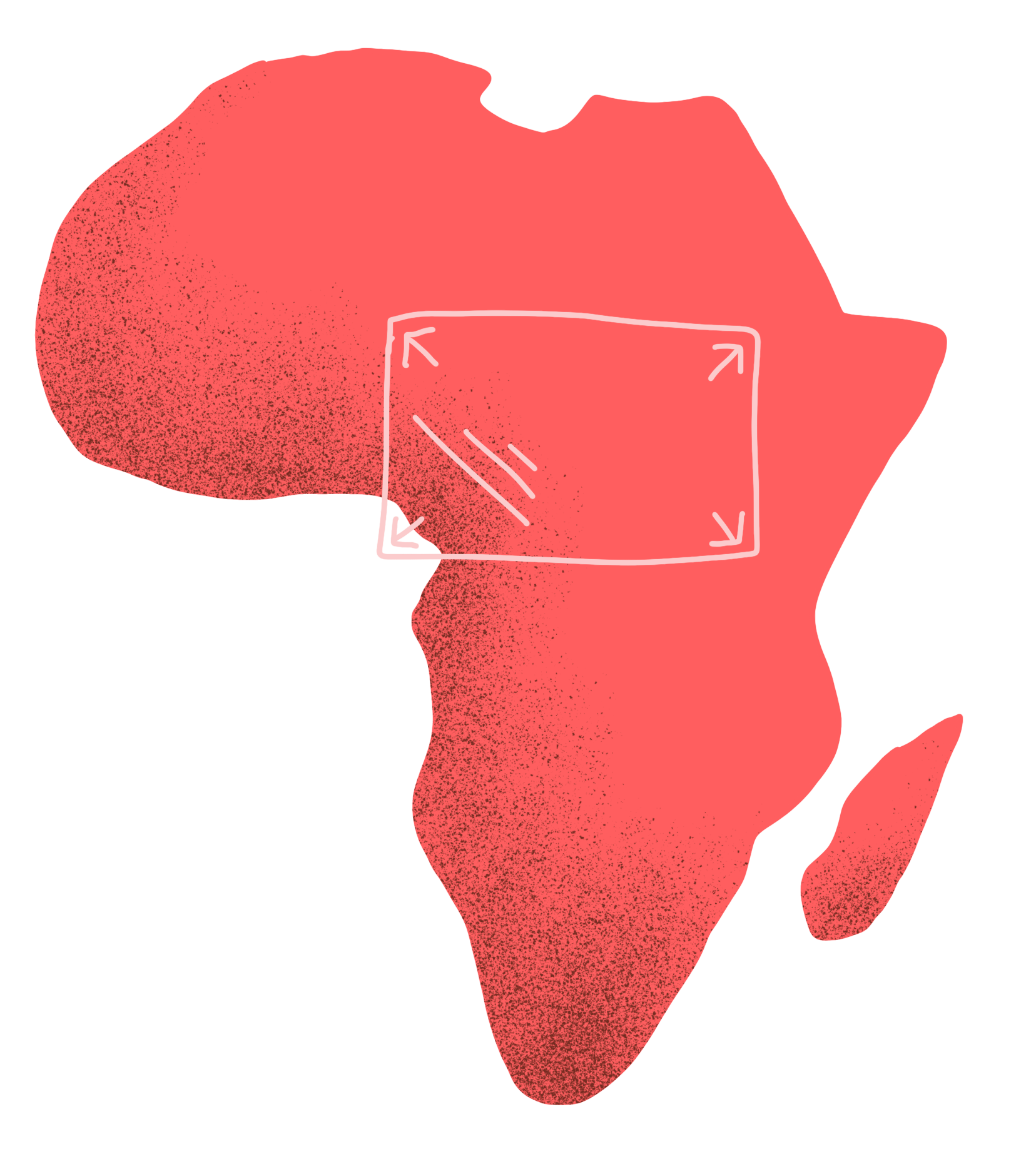 Illustration of African Continent