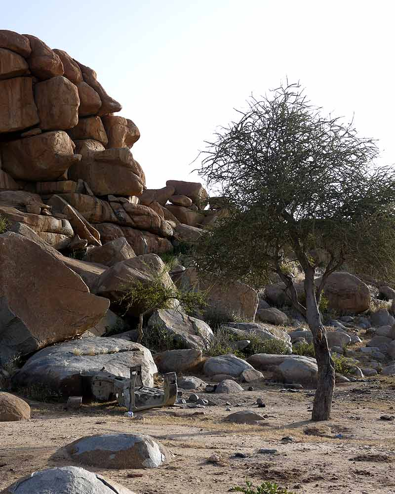 Rocks and trees in central Africa