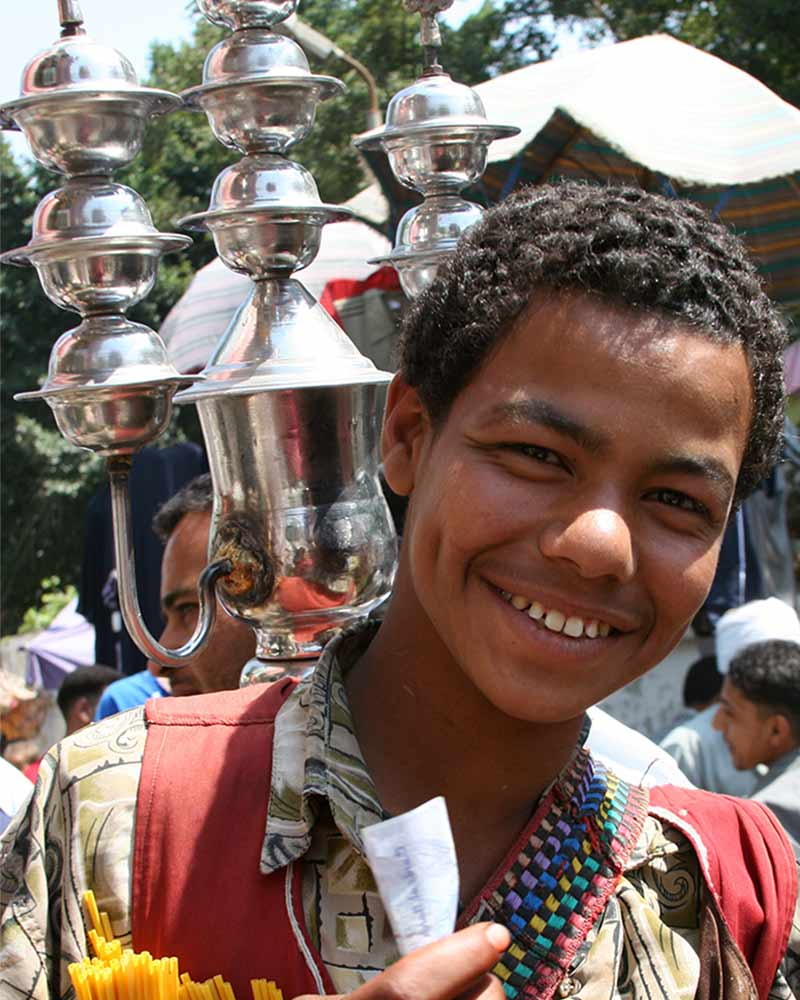 Young Egyptian man smiling