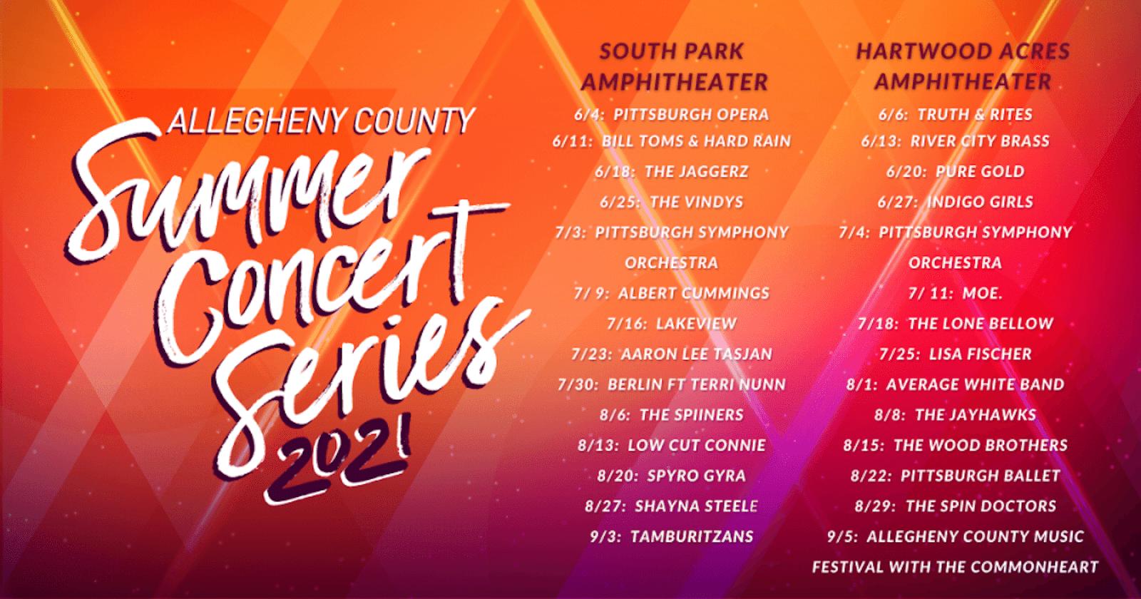 Summer Concert Series lineups