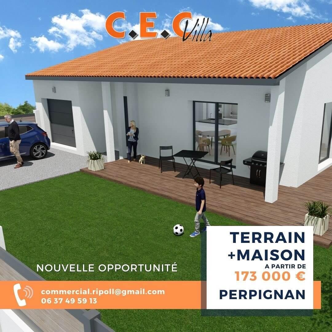 Villa de 80 m² et 220 m² de jardin sur Perpignan !
