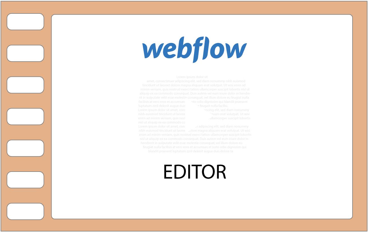 webflow editor filmstrip achtergrond