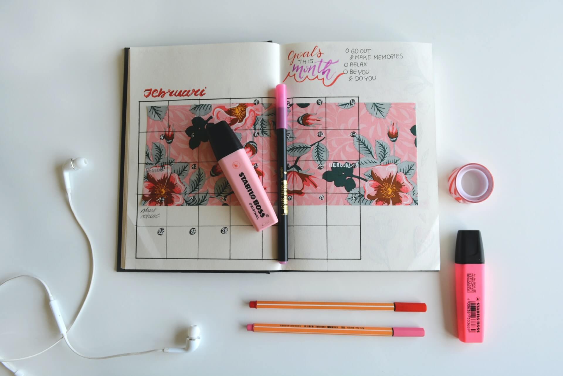 a spring calendar full of activities
