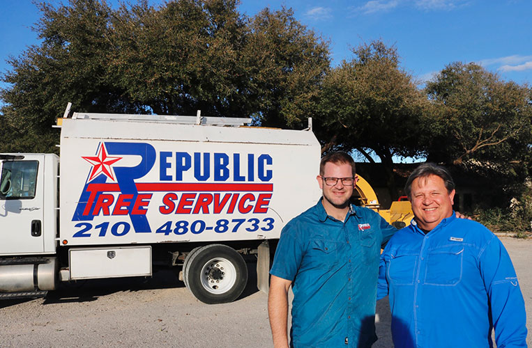 republic tree service van