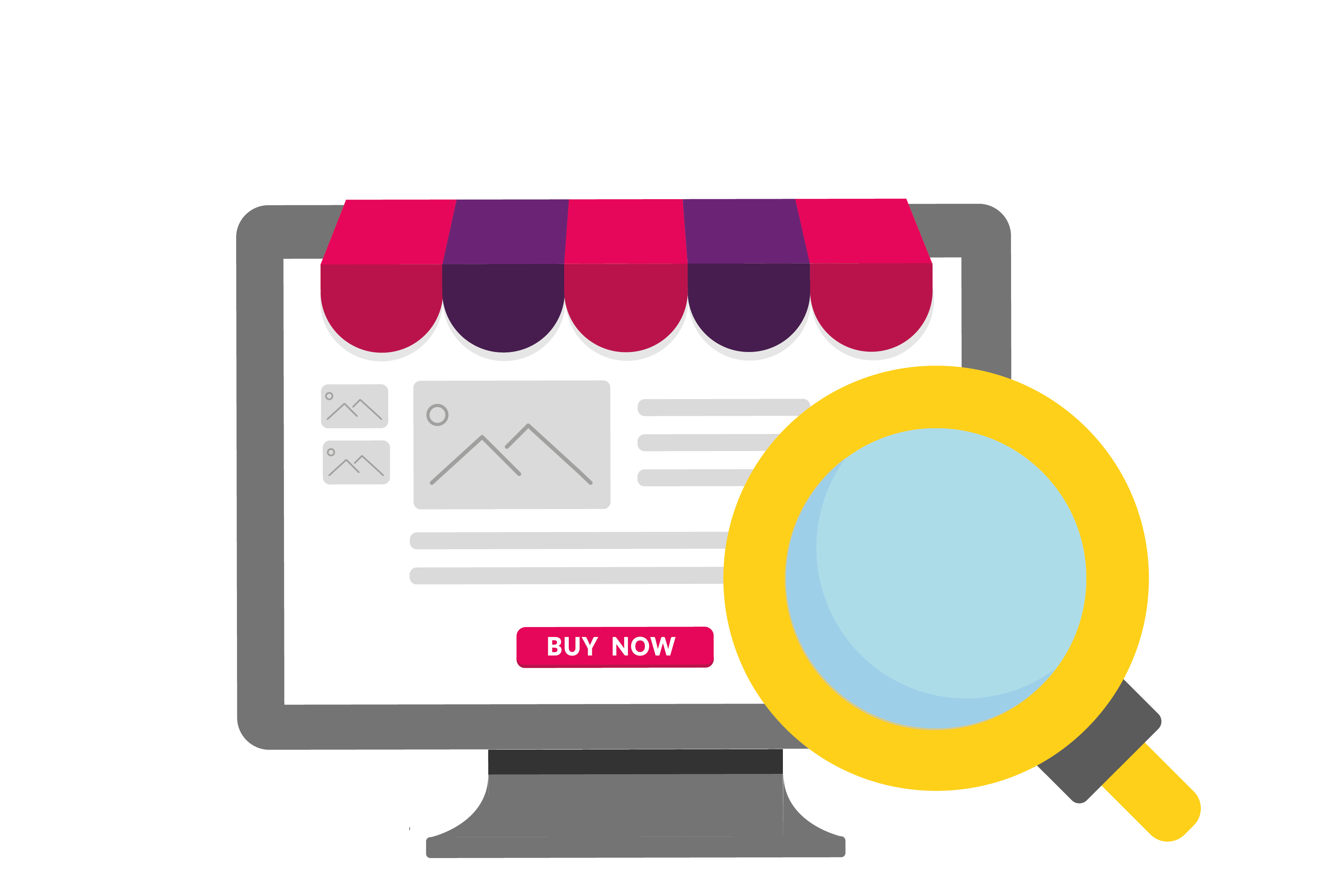 illustration of a  someone customising their store online