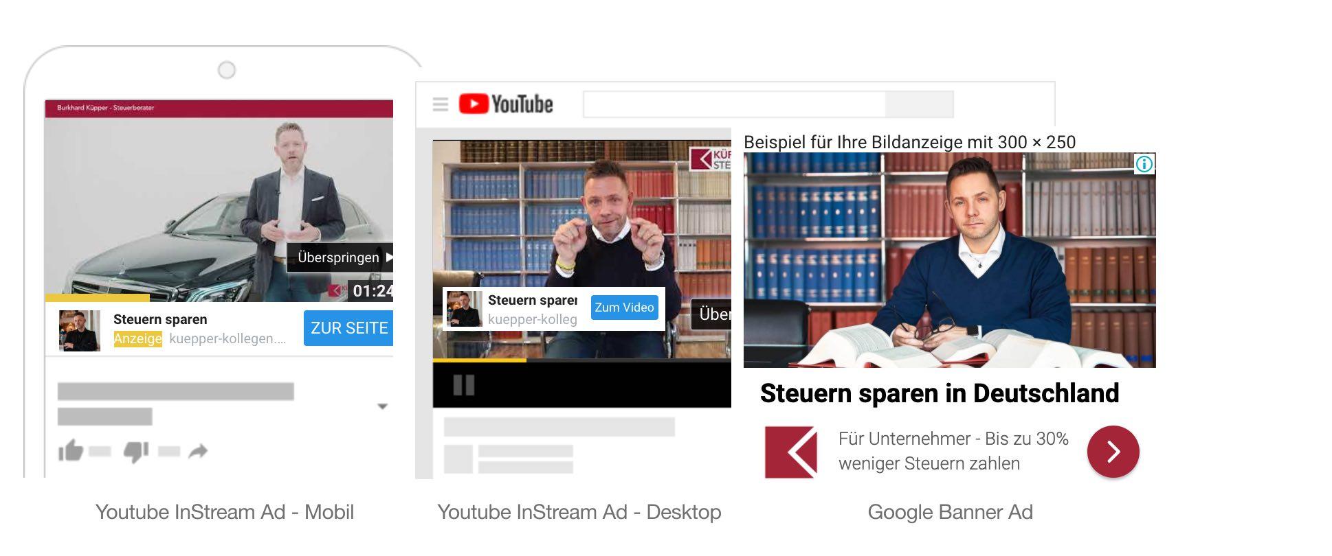 Beispiel Phase 1 Kaufbewusstsein schaffen durch Youtube Ads