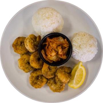 Hangry Ohana's Kahuku Garlic Shrimp