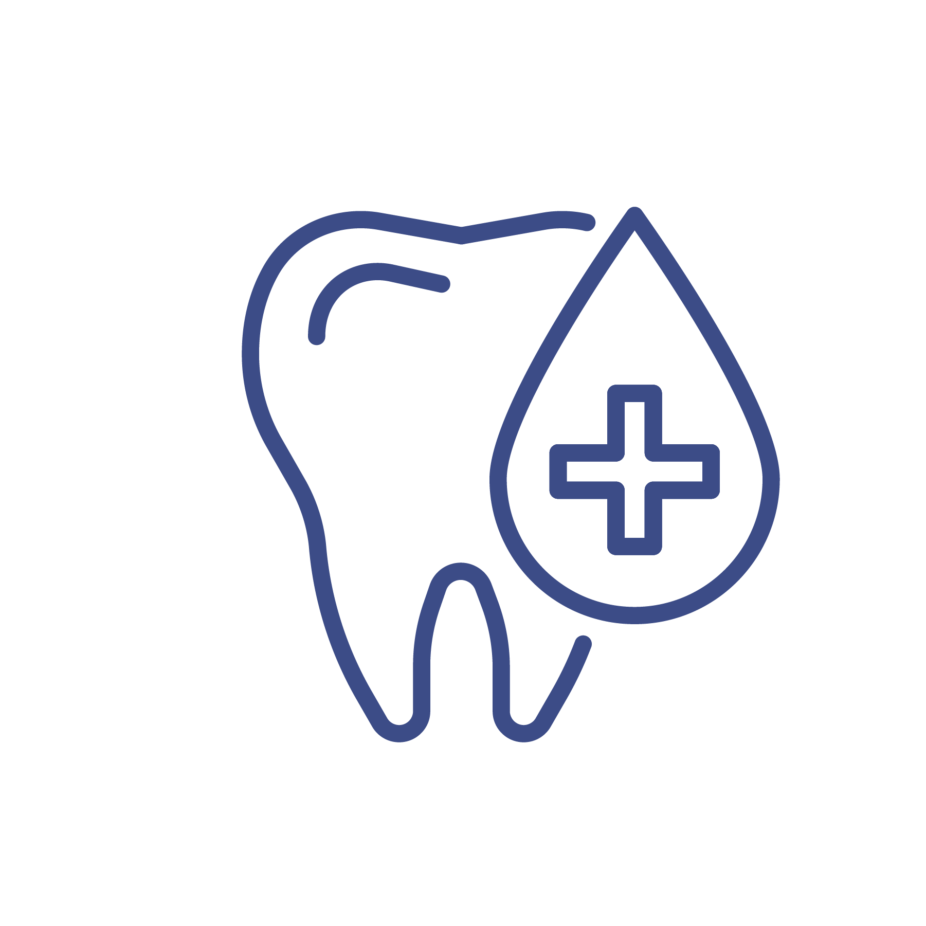 Tooth and care icon