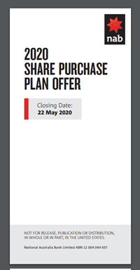 NAB non-underwritten Share Purchase Plan (SPP)