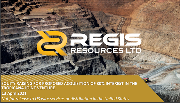 Regis Resources Ltd (RRL.AX) Placement & Entitlement Offer