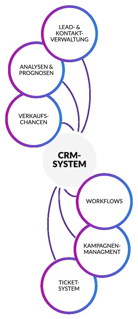 Funktionsweise von lexbizz Cloud-ERP Software in einem horizontalen Diagramm