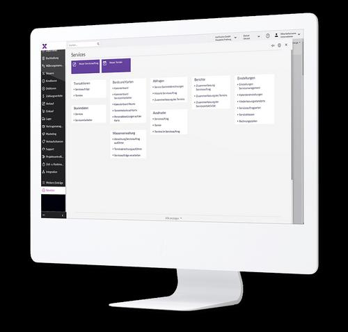 lexbizz Aussendienststeuerung - Screen Monitor