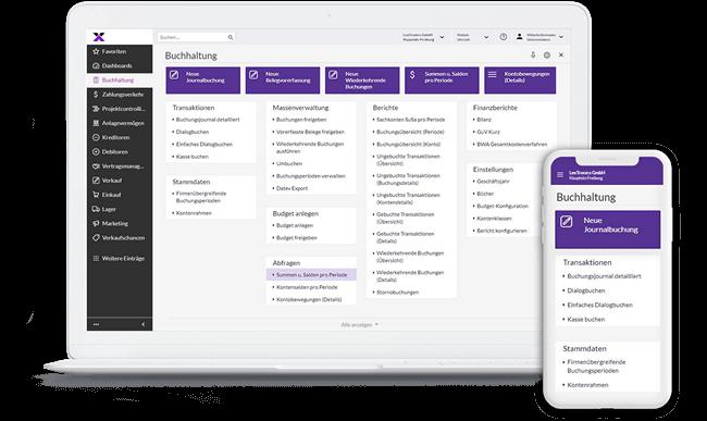 lexbizz Buchhaltung - Screen Desktop + Mobil