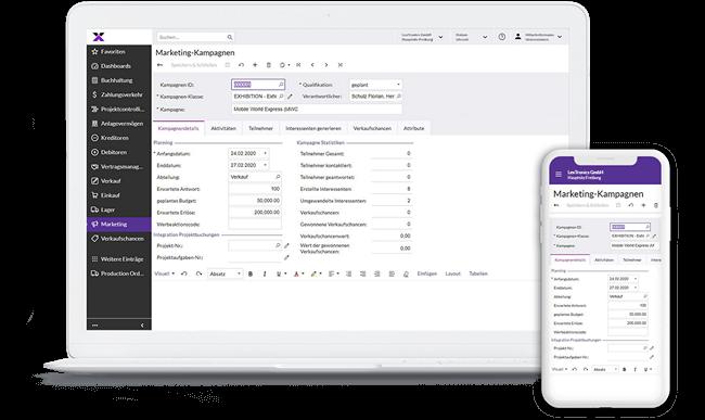 lexbizz CRM - Screen Desktop + Mobil