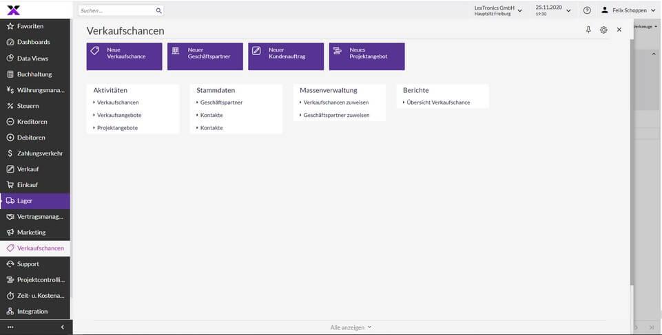 lexbizz CRM - Verkaufsprozesse Screen