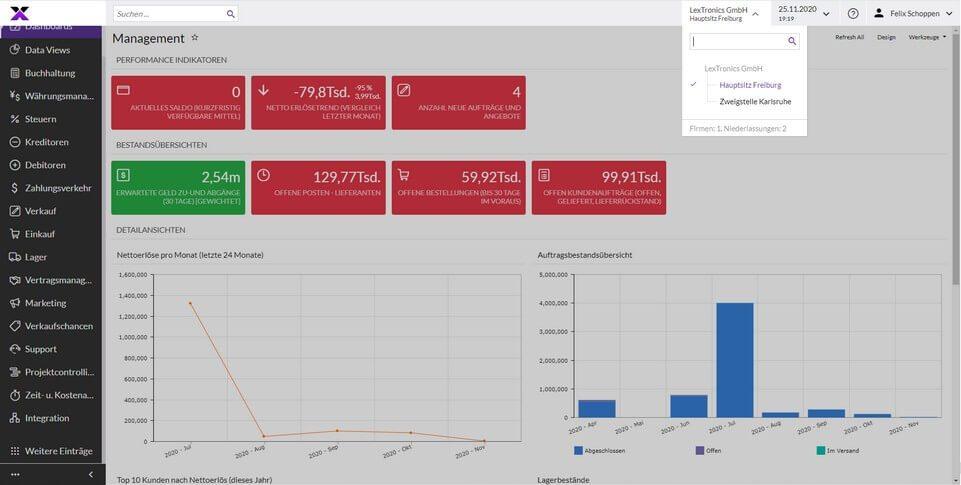 lexbizz Buchhaltung - Firmen/- Holdingstrukturen Screen