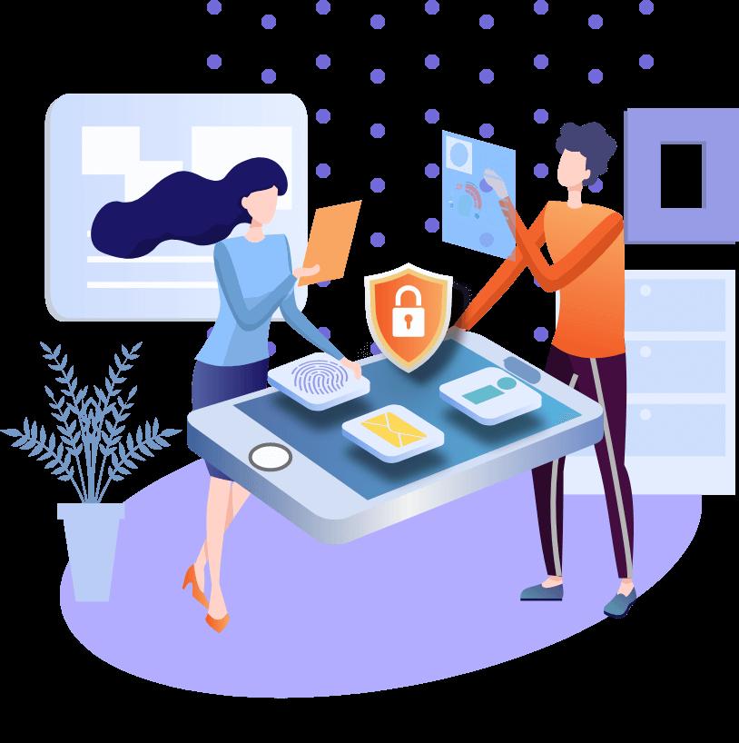 Illustration showing security elements