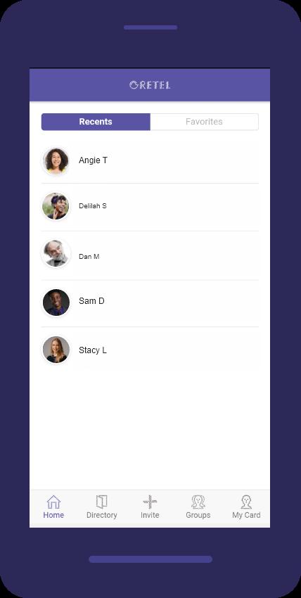 Gretel App Screen
