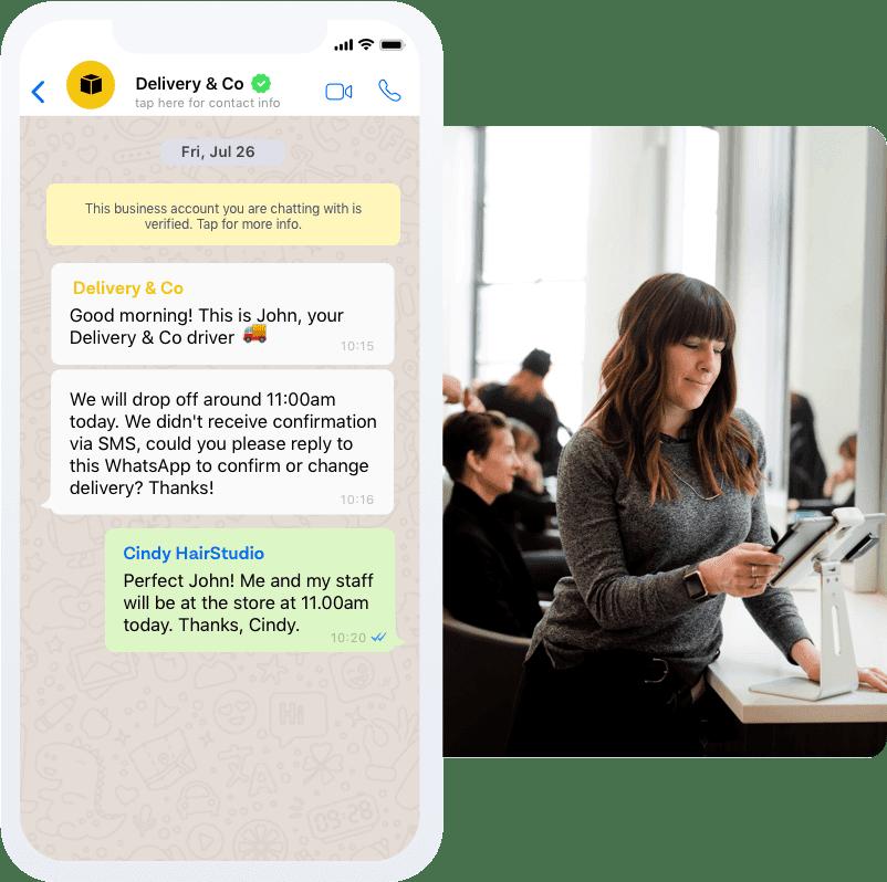 whatsapp notification message examplel