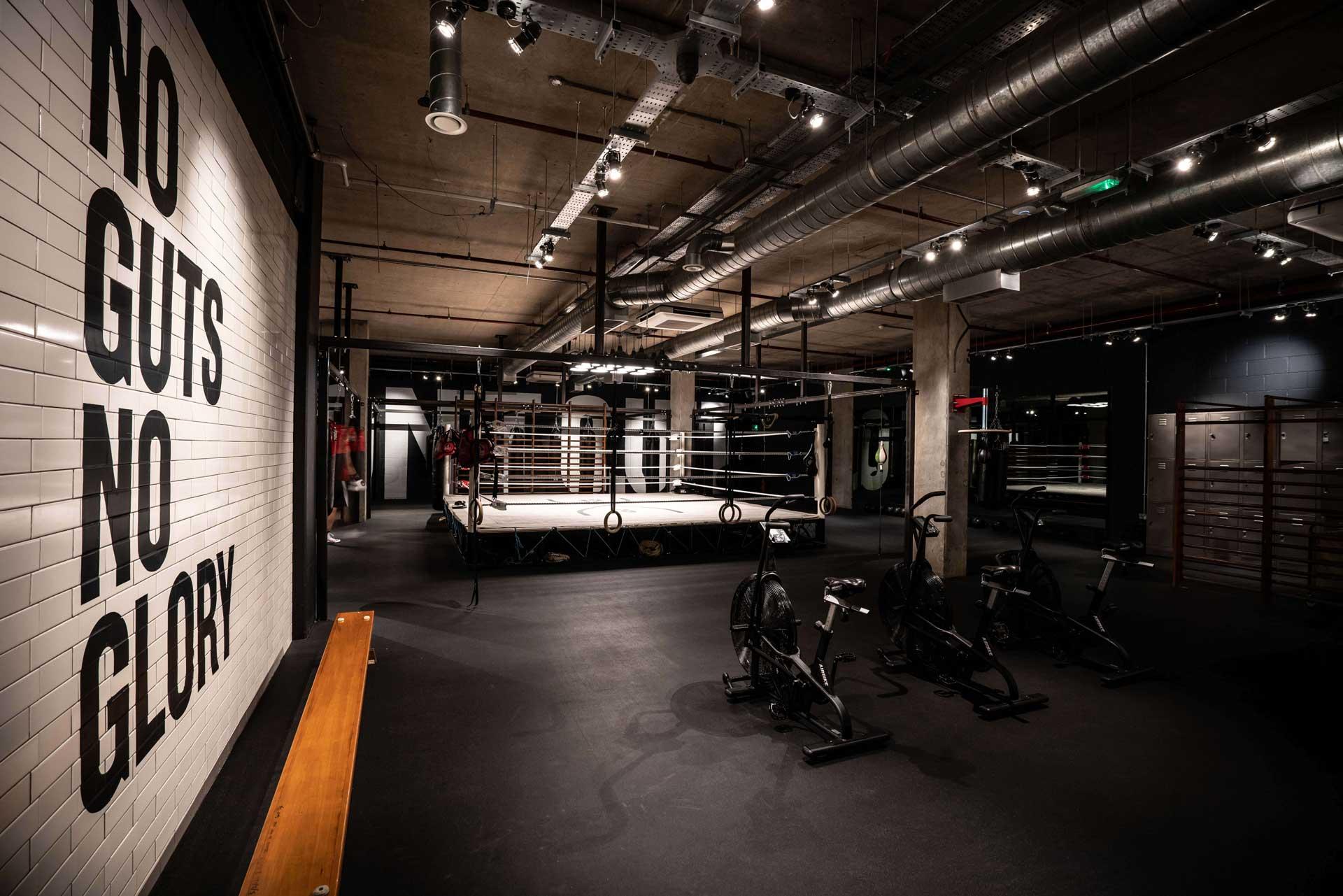 boxing gym exercise bikes