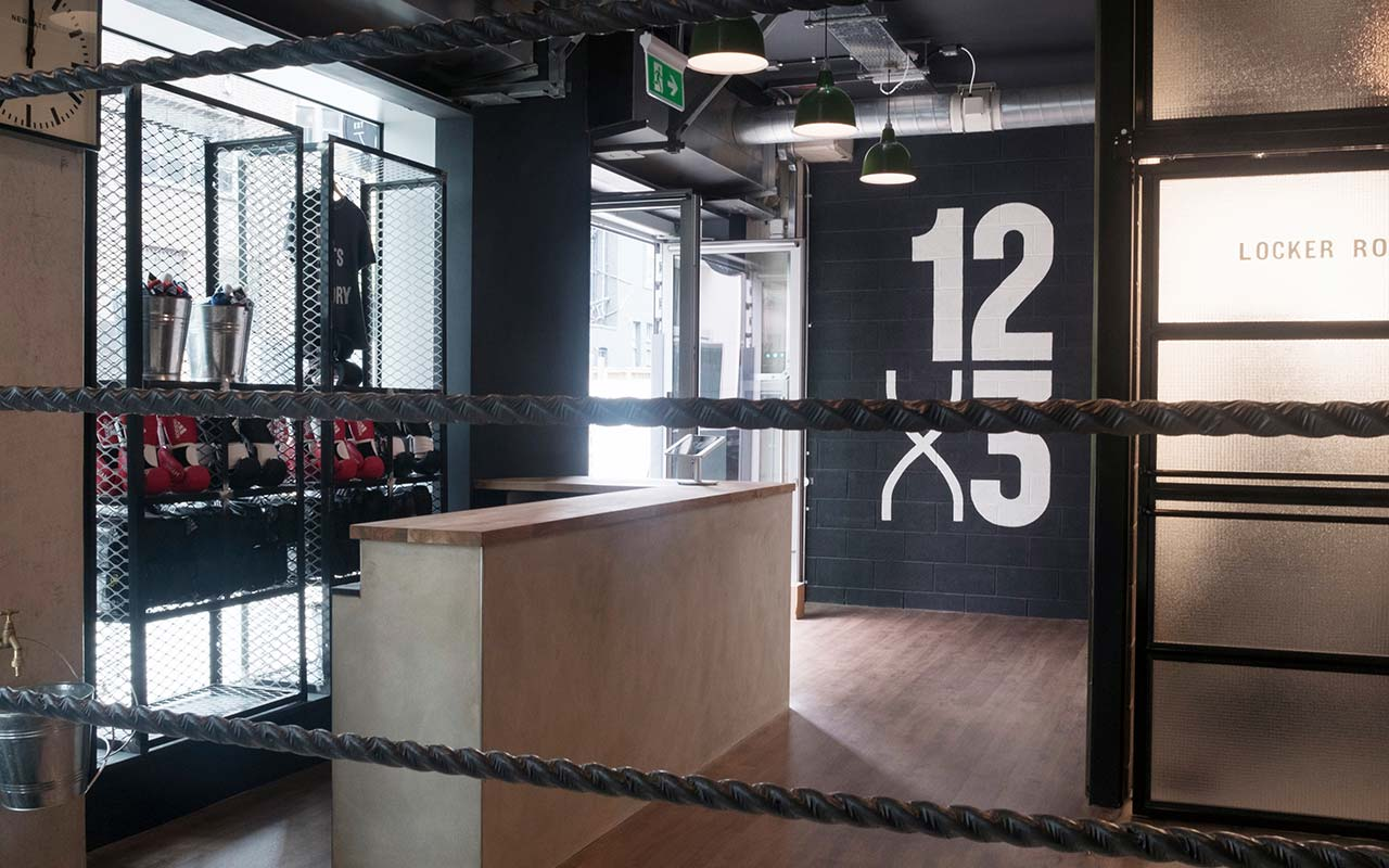 12 x 3 boxing gym reception