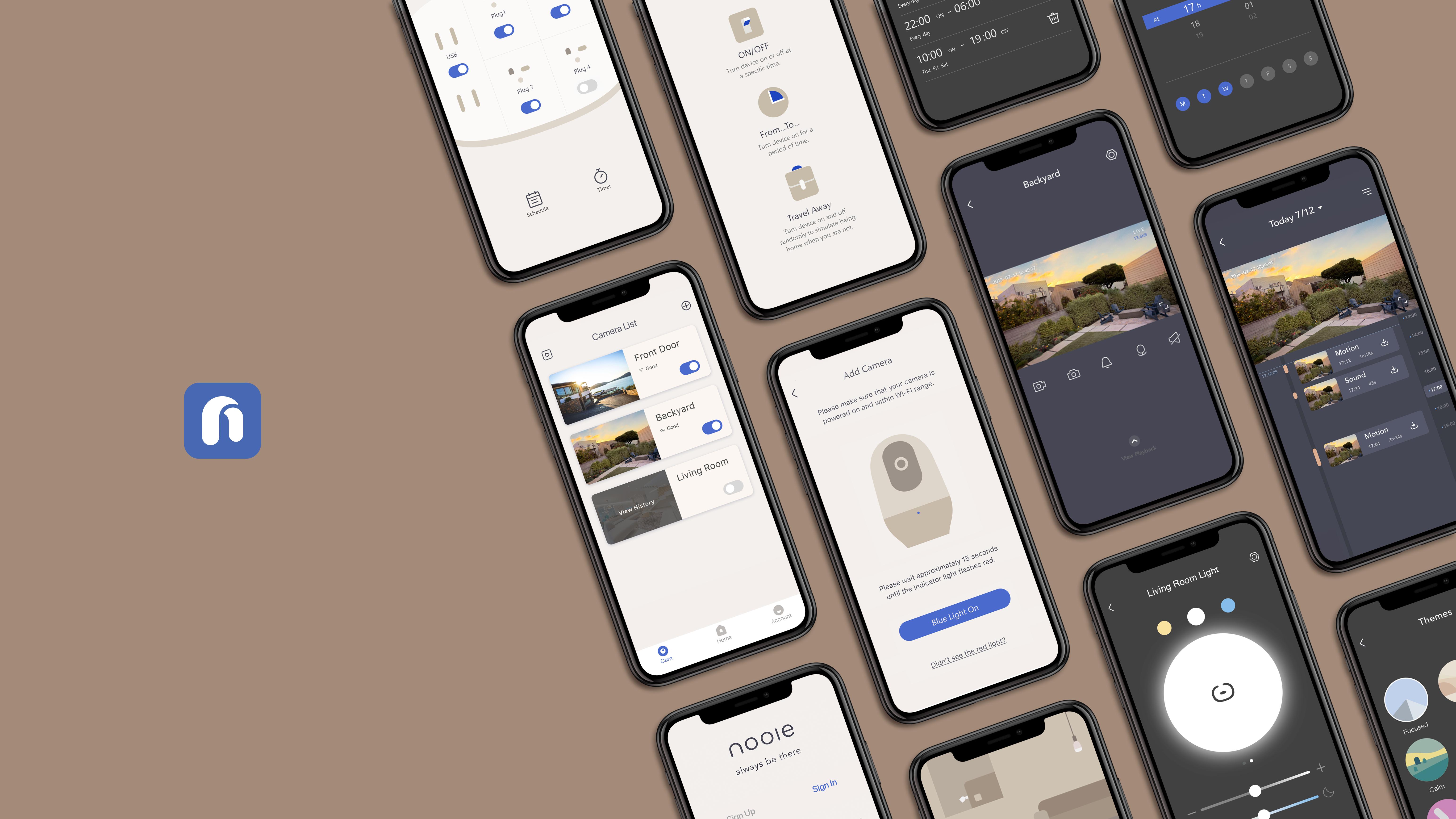 Nooie App screen showcase