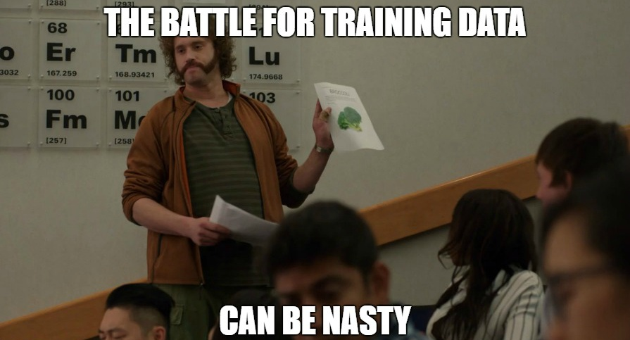 Training Data Meme from SiliconValley