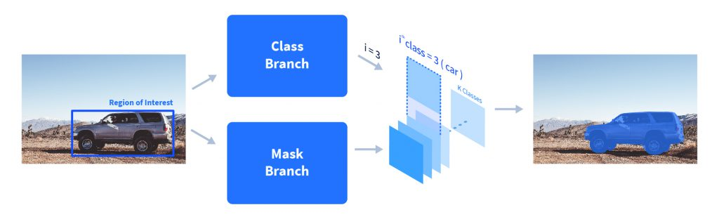 Getting the mask of region of interest using the class and mask layers