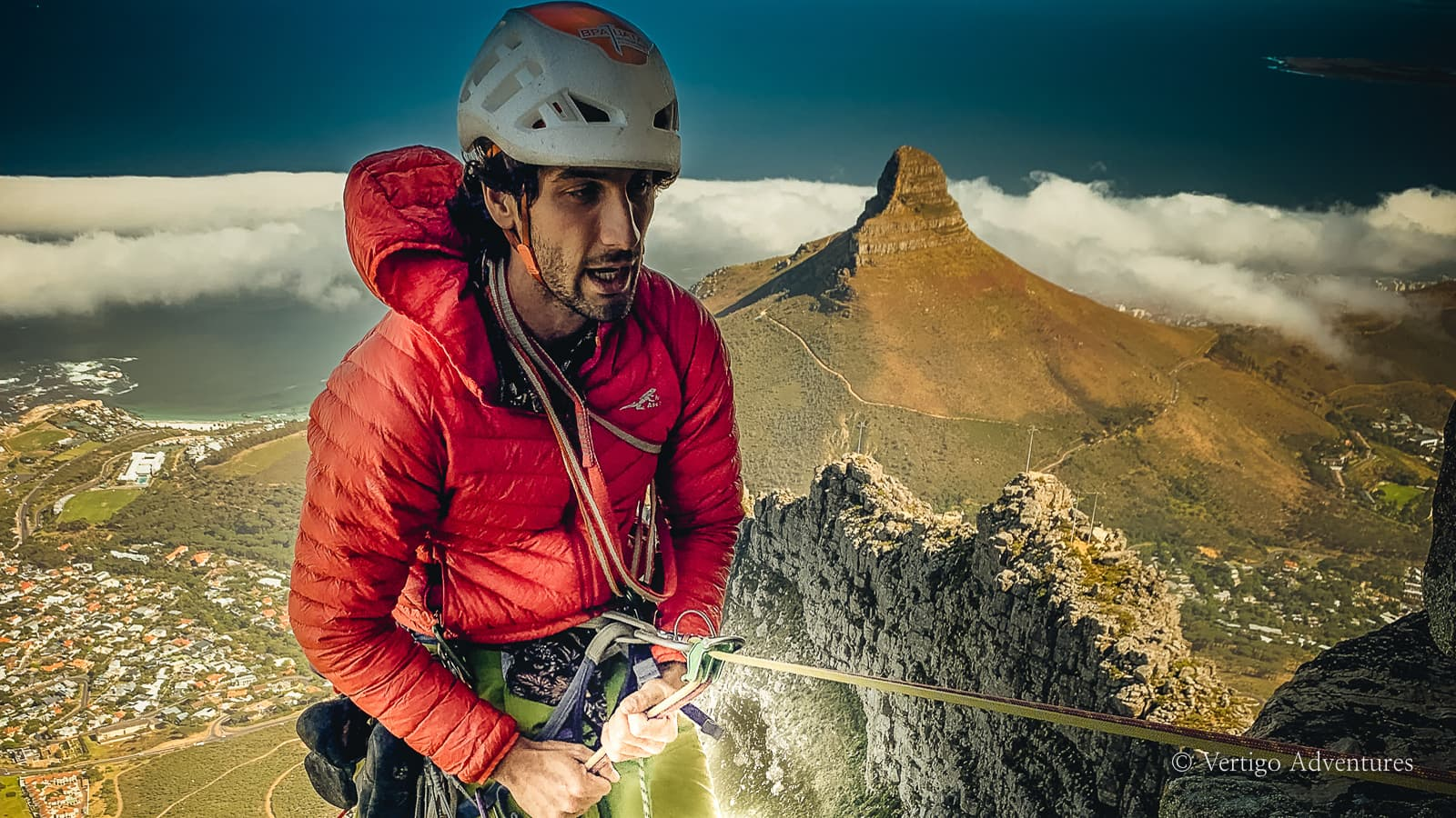 Guided rock climbing on Table Mountain