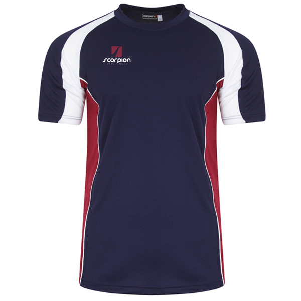 Scorpion Navy Maroon White ATX T-Shirt
