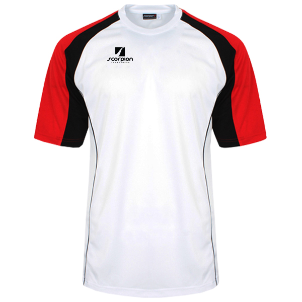 Scorpion Sports White Red Black ATX T-Shirt