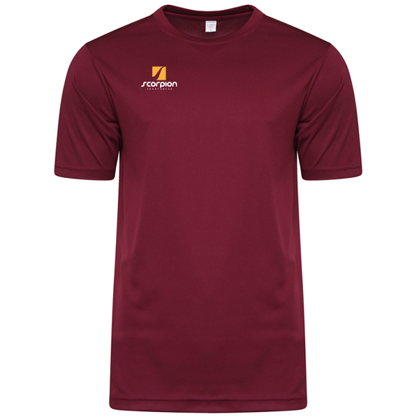 Scorpion Sports Maroon Warm Up T-Shirt