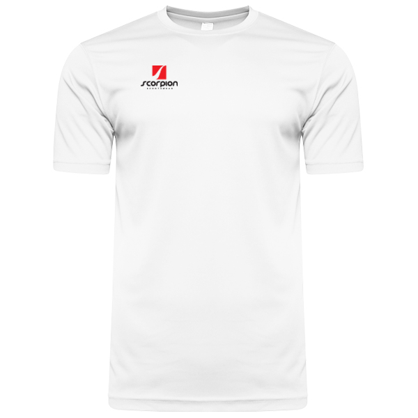 Scorpion Sports White Warm Up T-Shirt