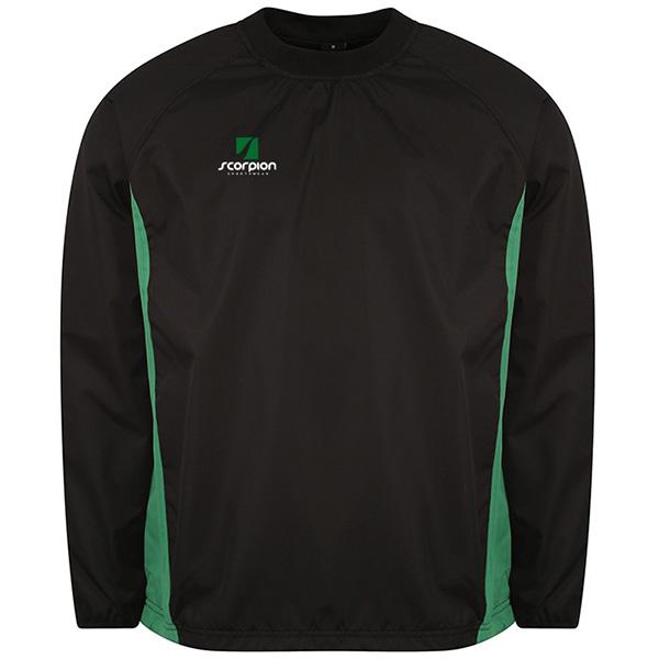 Scorpion College Drill Top Black Green