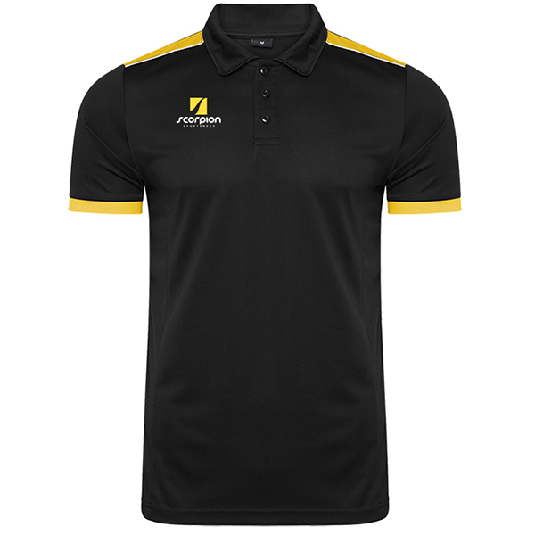 Scorpion Black Amber Heritage Polo Shirt