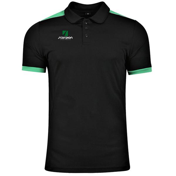 Scorpion Black Green Heritage Polo Shirt