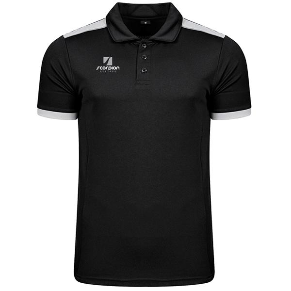 Scorpion Black Silver Heritage Polo Shirt