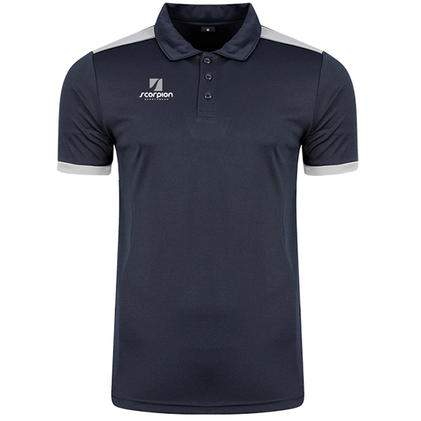 Scorpion Sports Navy Silver Heritage Polo Shirt