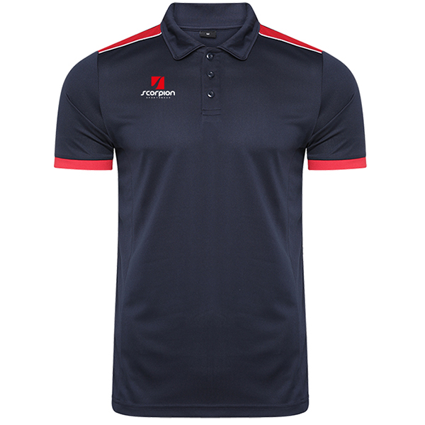 Scorpion Sports Navy Red Heritage Polo Shirt