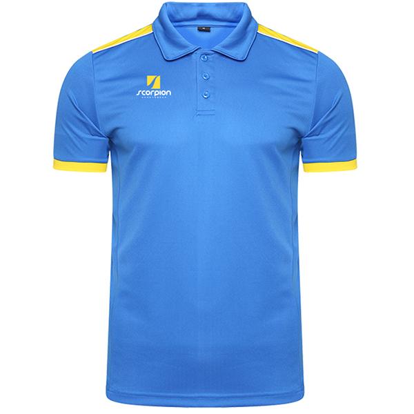 Scorpion Sports Royal Yellow Heritage Polo Shirt