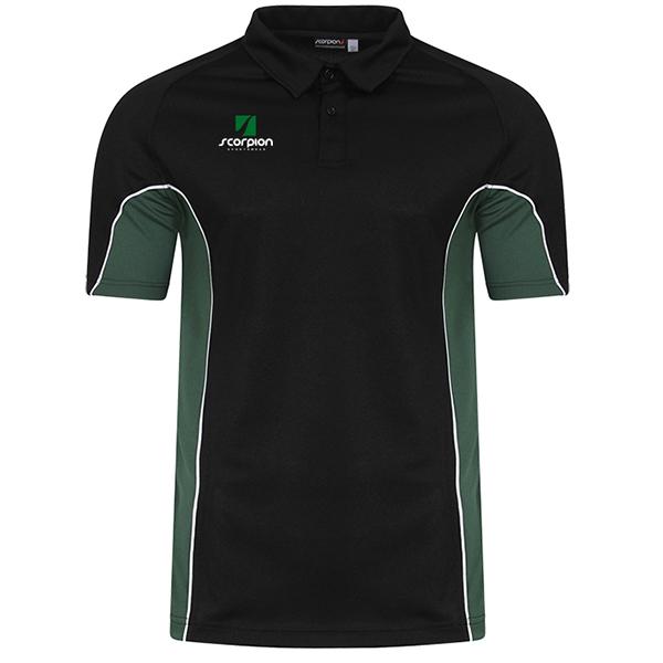 Scorpion Black Green ATX Polo Shirt