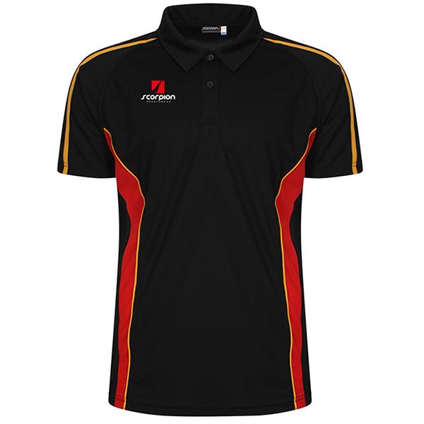 Scorpion Black Red Amber ATX Polo Shirt