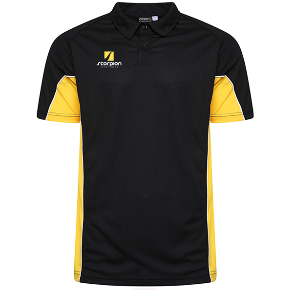 Scorpion Black Yellow ATX Polo Shirt