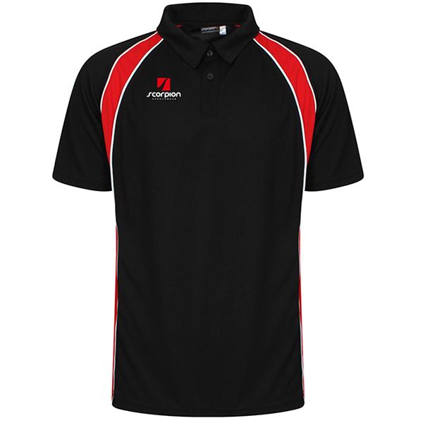 Scorpion Black Red ATX Polo Shirt