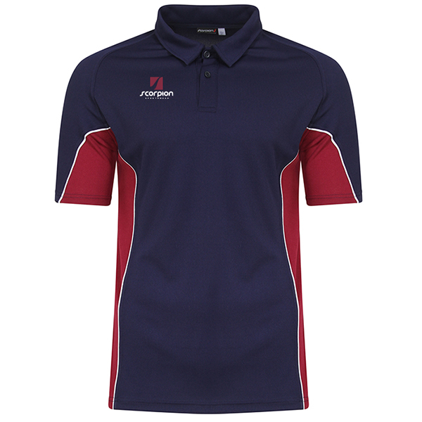 Scorpion Navy Maroon ATX Polo Shirt