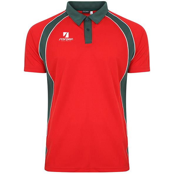 Scorpion Red Green ATX Polo Shirt
