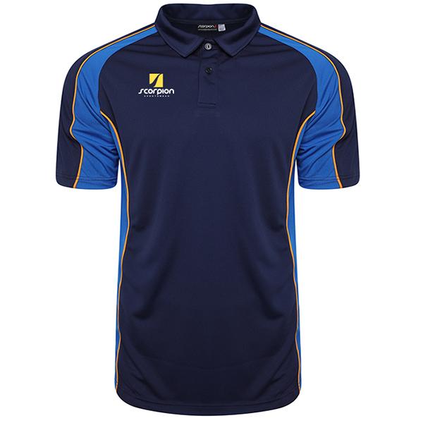 Scorpion Navy Royal Amber ATX Polo Shirt