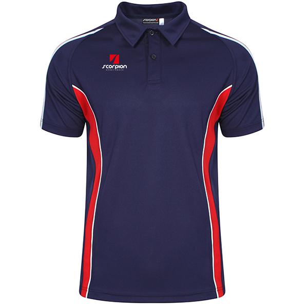 Scorpion Navy Red White ATX Polo Shirt