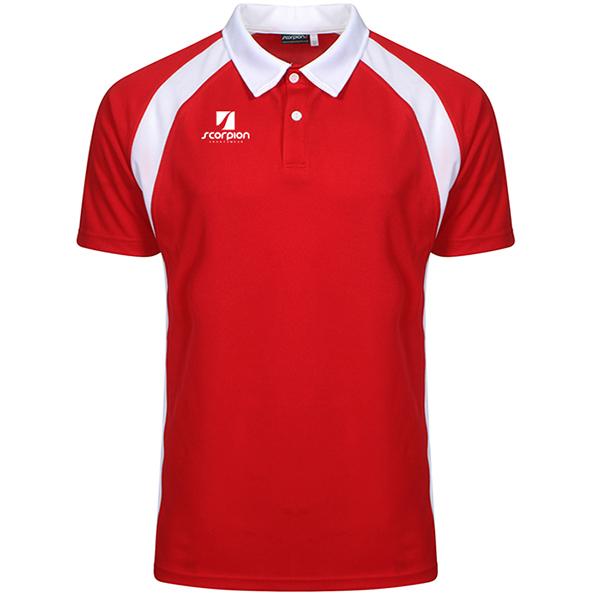 Scorpion Red White ATX Polo Shirt