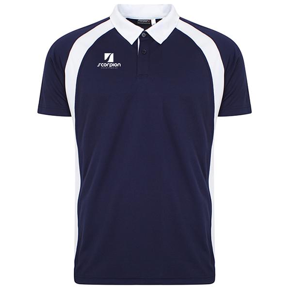Scorpion Navy White ATX Polo Shirt